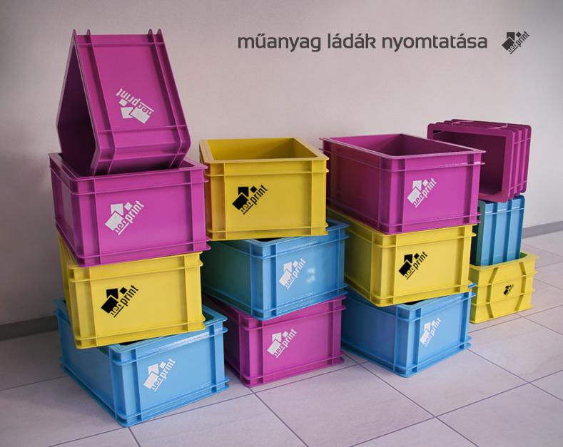 5a81657c4677 Műanyag felületek, ládák nyomása